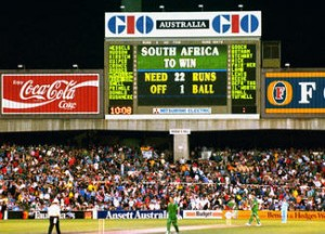 South Africa's heart breaking scene at the 1992's World Cup